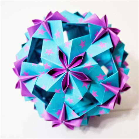 Origami Kusadama - will fold for paper dulcinea kusudama design by uniya
