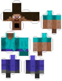 minecraft papercraft printable character cut out of steve