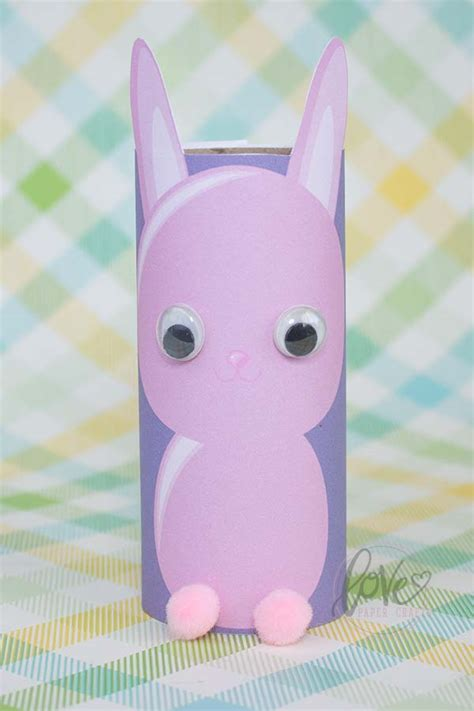 Make Your Own Toilet Paper - printable toilet paper bunny paper crafts