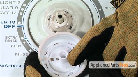 Dryer Knob Not Working by Washer Timer Knob Part 3957821 How To Replace