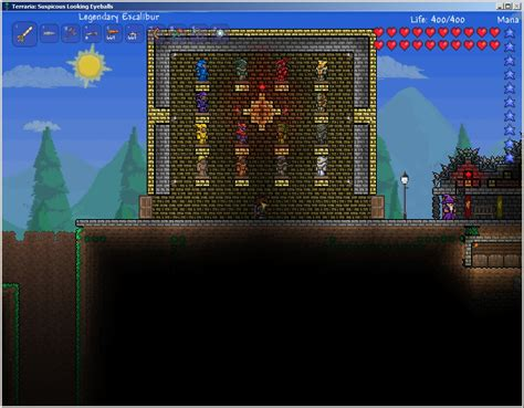Terraria Rooms by The Armor Room Lots Of Ore Farming Fighting Involved