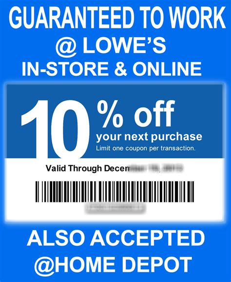 lowe s coupons promo codes using some grease