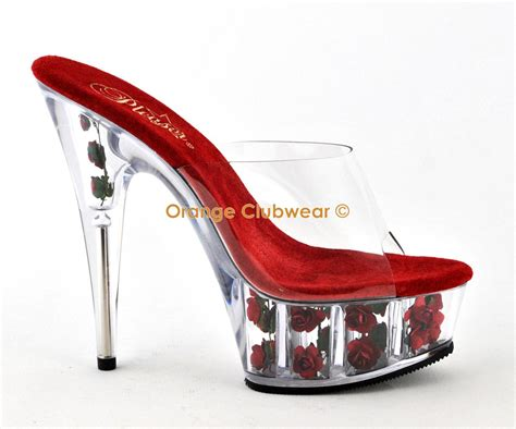striper high heels pleaser flowers high heels shoes ebay