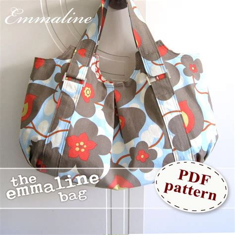 Handmade Bag Patterns - emmaline bag pdf sewing purse pattern a floral handmade