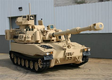 Tesla Howitzer M109a6 Paladin 155 Mm Self Propelled Howitzer Usa