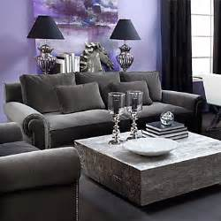 Purple Black And Grey Living Room by Charcoal And Purple Living Room Loving This Rooms