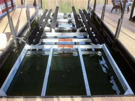 boat lift v hull custom dock systems builds quality boat docks boat lifts