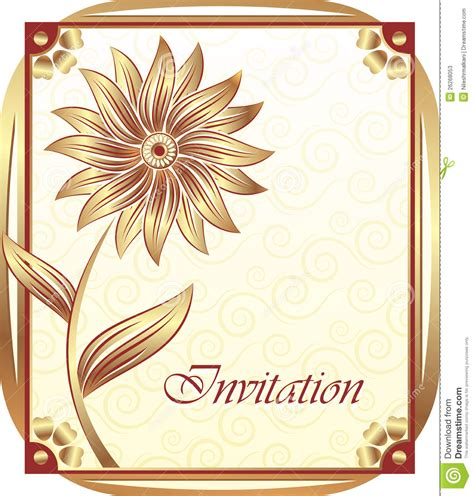 free invitation card designs 5 invitation card design stock vector illustration of