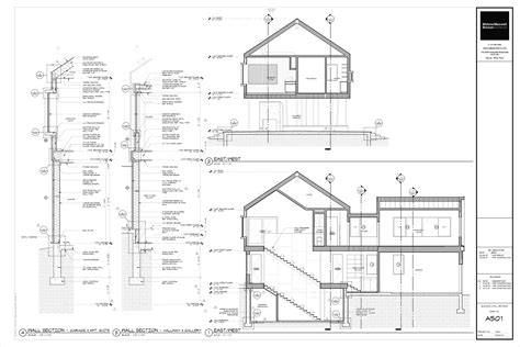 technical drawing section the cabin project technical drawings life of an architect