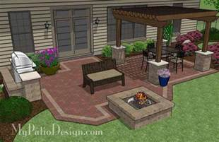 patio layout backyard brick patio design with 12 x 12 pergola grill