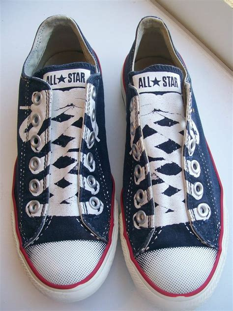 converse sneakers no laces converse all no lace slip on navy painted laces shoes