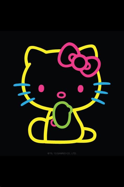 Hello Kitty Neon Wallpaper | neon hello kitty love it hello kitty pinterest