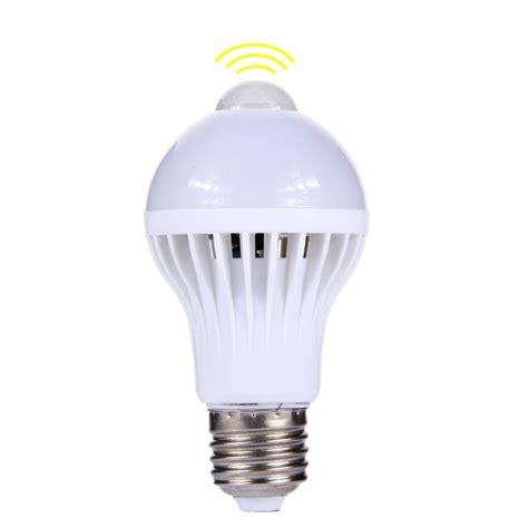 E27 7w Infrared Motion Sensor Led Light Bulb Sensor Infrared Led Light Bulb