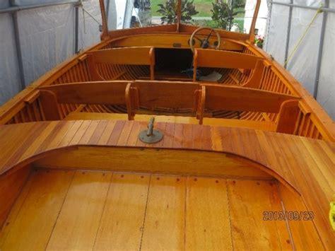 motor boat kijiji custom made giesler cedar strip boat for sale 18 ft