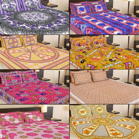 bedsheets buy bedsheets online at best prices in india buy jaipuri 8 cotton double bed sheets with 16 pillow