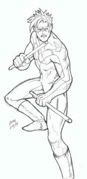 nightwing coloring pages nightwing by wushuboy on deviantart