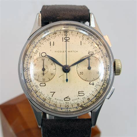 watches on sale 1950 s vintage nicolet 2 register chronograph