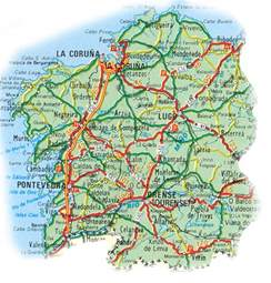Galicia Spain Map by Map Of Galicia In Details Road Map Of Galicia Map Of