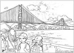 T&233l&233chargez Ou Imprimez La Page &224 Colorier Pont Remarquable sketch template