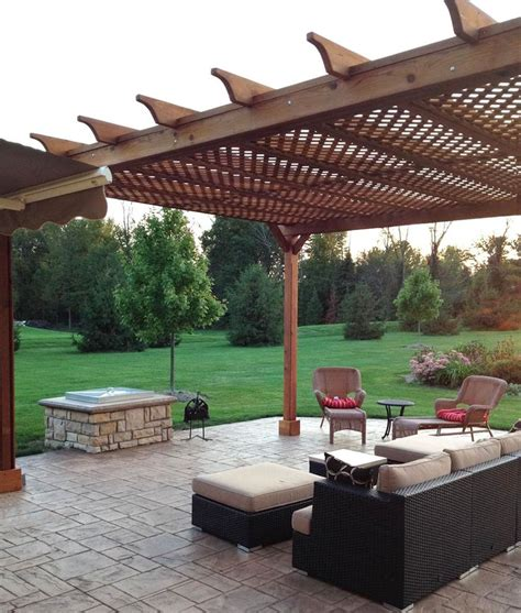 outdoor l posts base 1000 images about concrete patio pergola on