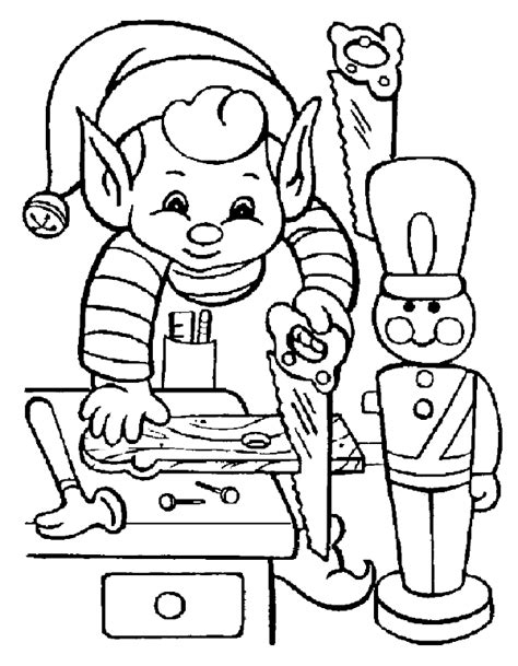 elf size coloring page elf on working of christmas coloring page boys coloring