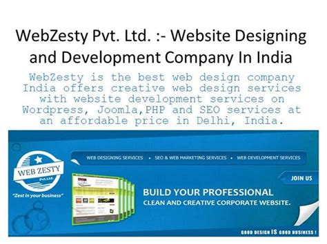 Website Design And Development Company by Webzesty Website Design And Development Company In India