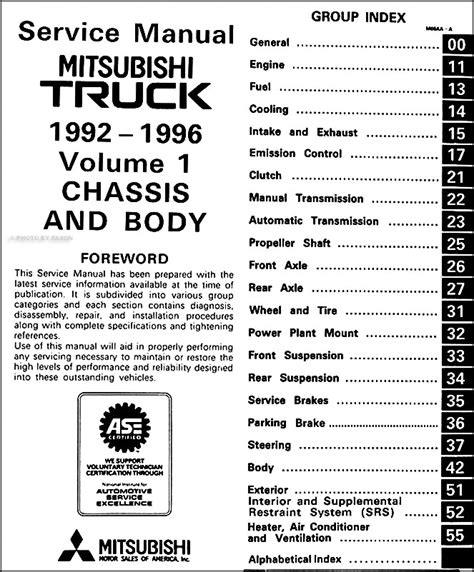 free service manuals online 1992 mitsubishi mighty max spare parts catalogs 1992 1996 mitsubishi mighty max truck repair shop manual set original