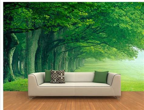 custom photo wallpaper large  sofa tv background