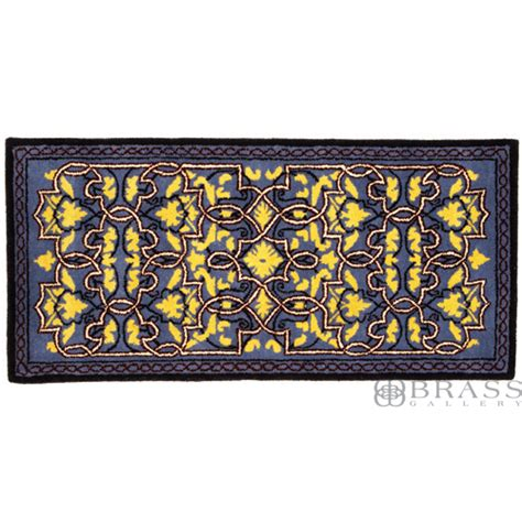 fireplace hearth rugs minuteman blue tabriz rectangular fireplace hearth rug brass gallery