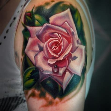 pink rose tattoos tattoos the best flower tattoos part 2
