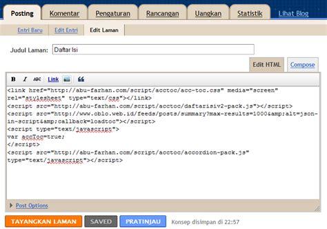 blogger daftar cara membuat daftar isi site map blogger daring durang