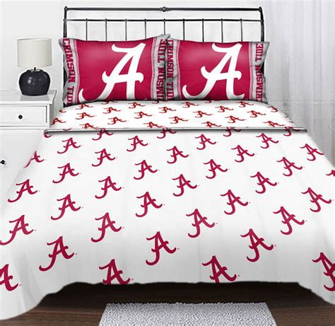 alabama comforter set ncaa alabama crimson tide logo full bed sheet set
