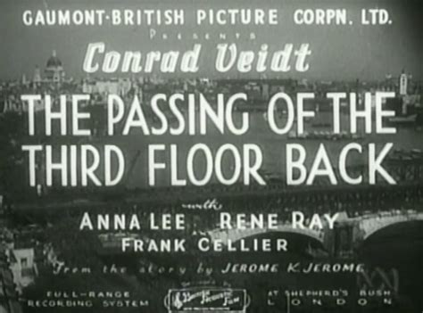 The Passing Of The Third Floor Back by The Passing Of The Third Floor Back 1935