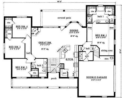 floor plans for country homes country style house plans 2098 square foot home 2
