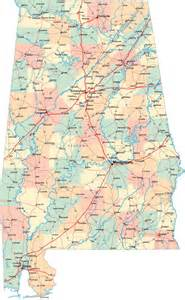 usa map of alabama detailed administrative map of alabama state with roads