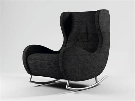 schaukelstuhl modern arte m bill modern schaukelstuhl sessel mit hocker stoff