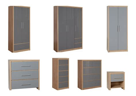 seville bedroom set seconique seville bedroom furniture oak grey gloss