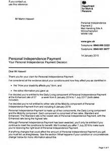 Award Letter For Pip Personal Independent Payments Complaints The They