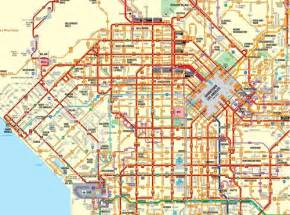 Los Angeles Transit Map by Off The Bus The Atlantic
