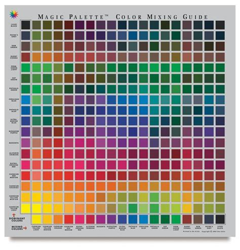 magic palette color selector and mixing guide personal size dickblick color crushin