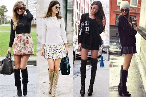 what to wear with knee high boots this fall 2013