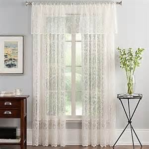 Lace Curtains Bed Bath And Beyond Abstract Lace Sheer Window Curtain Panel In Ivory Bed