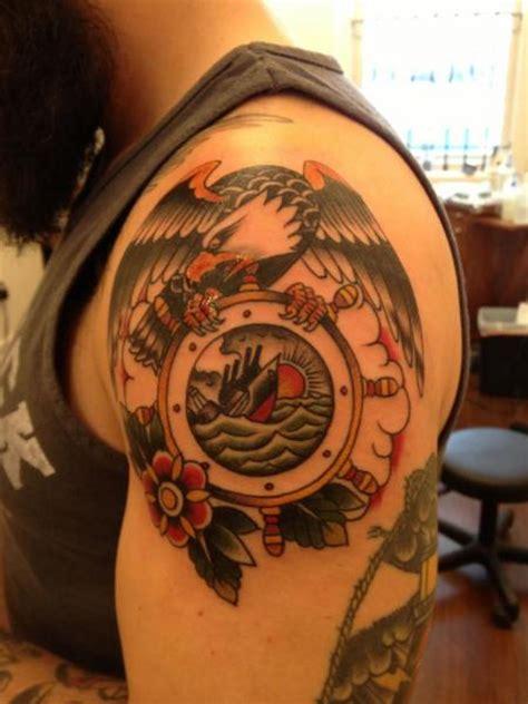 Tattoo Shoulder Old School | shoulder old school eagle tattoo by black cat tattoos