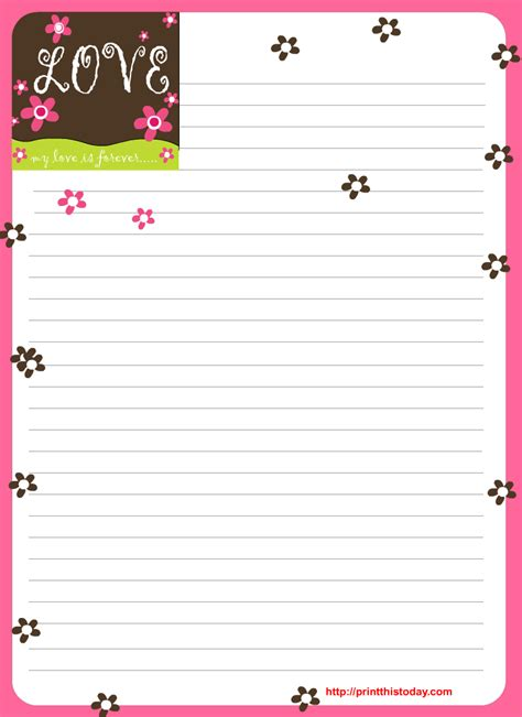 printable love images free love letter pad printable