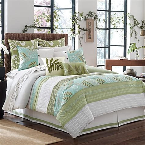 luxe bedding luxe south seas comforter set bed bath beyond