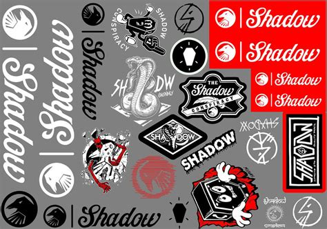 Bike Sticker New by Shadow Conspiracy 2017 Sticker Pack 24 Piece Sticker