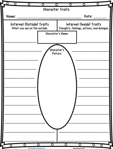 Character Traits Worksheet Pdf character traits worksheet pdf school tools