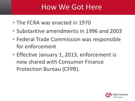 us federal trade commission bureau of consumer protection fair credit reporting act basics