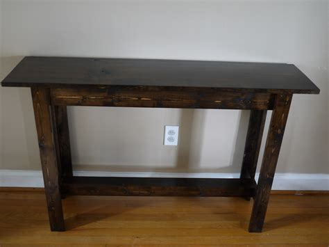 making a sofa table how to build a wooden console table mpfmpf com almirah