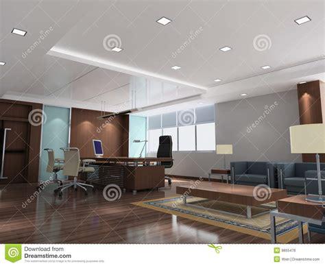 salle de bureau pi 232 ce moderne du bureau 3d image libre de droits image
